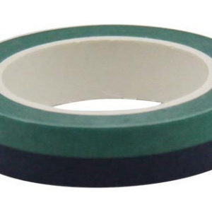 4A Masking Tape,0.4 x 10-inches, Forest Green & Black, 1 roll