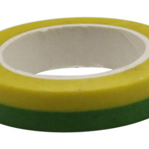 4A Masking Tape,0.4 x 10-inches, Yellow & Green, 1 roll