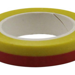 4A Masking Tape,0.4 x 10-inches, Yellow & Red, 1 roll