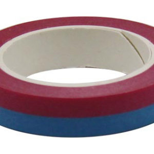 4A Masking Tape,0.4 x 10-inches, Sapphire & Red, 1 roll