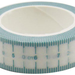 4A Masking Tape,0.6 x 10-inches, Aquamarine Ruler Tape, 1 roll