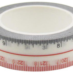 4A Masking Tape,0.6 x 10-inches, Inch & CM Ruler Tape, Max 27CM, 1 roll